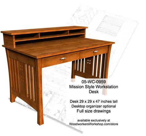 desk woodworking plans 05 wc 0959 mission style workstation desk woodworking