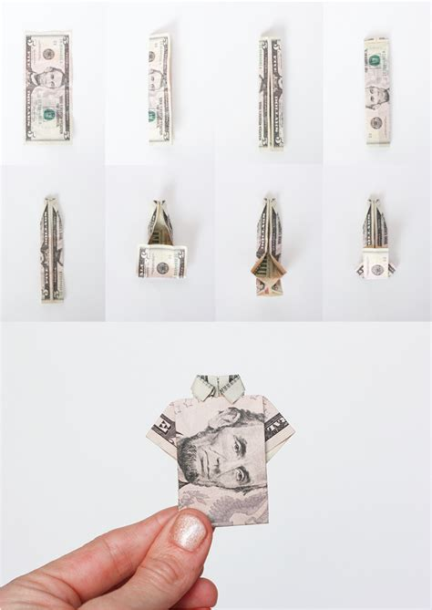 how to make an origami out of money one dollar shirt origami images gallery
