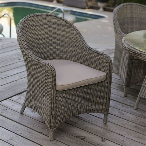 outdoor wicker chairs mingle all weather wicker patio dining chair set of 2