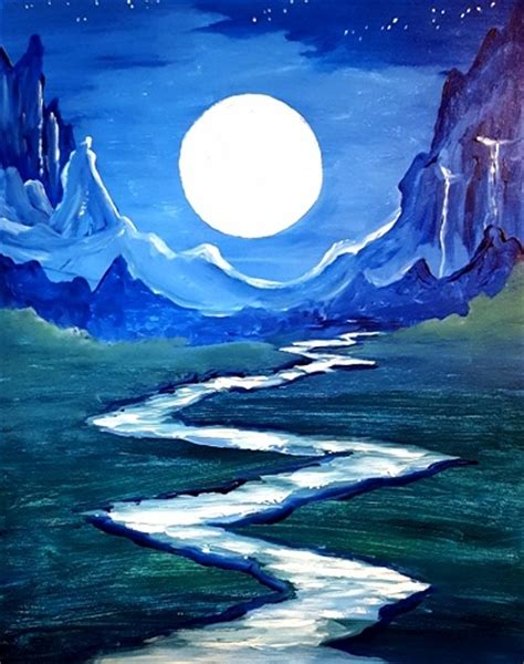 paint nite a island city paint nite blue moon river