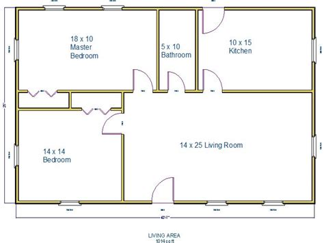 floor plan 1000 square foot house 1000 square foot house plans 1500 square foot house small