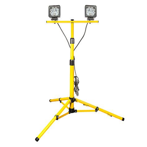 how led lights work dual portable led work lights with tripod stand