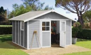 abri de jardin r 233 sine deco 11m 178 blanc gris kit d ancrage offert grosfillex abri de jardin
