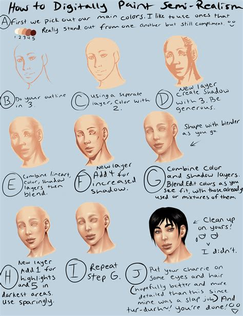 paint tool sai tutorial realistic digital semi realism skin tutorial by thecomicstream on