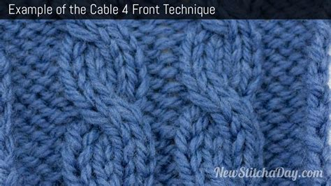 how to knit front and back of stitch the cable 4 front stitch knitting stitch 227 new