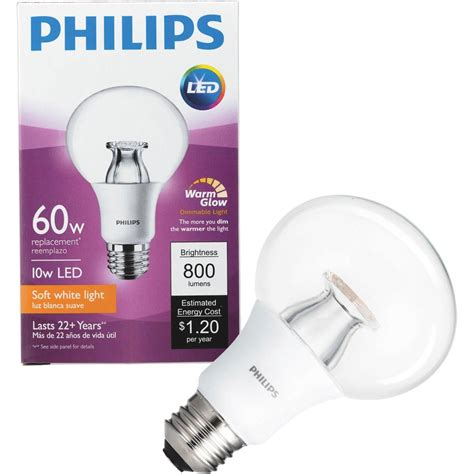 warm glow led lights philips led dimmable light bulb g25 soft white with warm