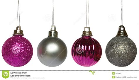 hanging baubles four hanging baubles stock image image of december