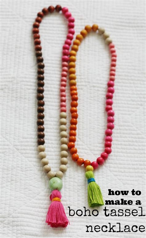 how to make tassels for jewelry diy try how to make a tassel necklace chic everywhere