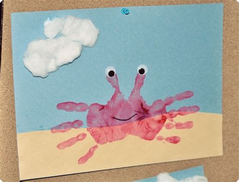 crafts for summer summer handprint crab craft preschool crafts for
