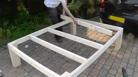 how to make a king bed frame heavy duty diy bed