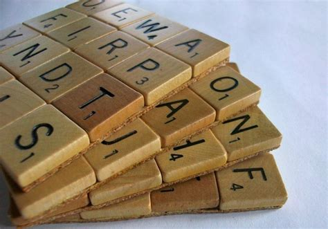 scrabble set handmade scrabble coaster set gadgetsin