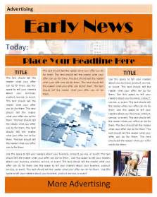 free newsletter templates for word 2007 newspaper template microsoft word 2010