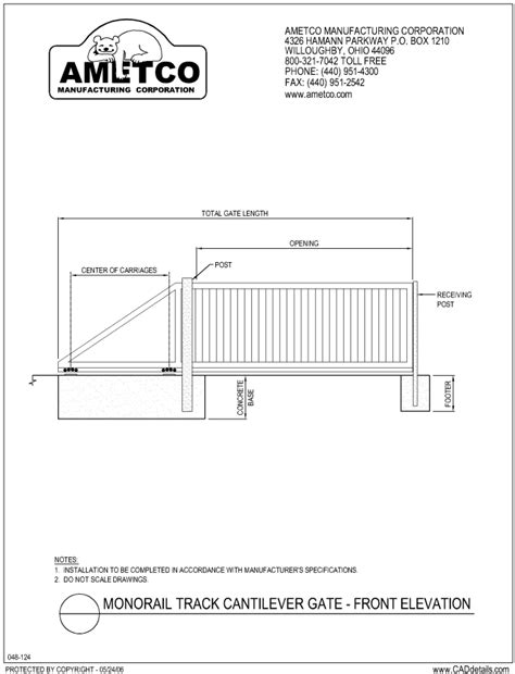 Carriage House Floor Plans cantilever gates ametco manufacturing