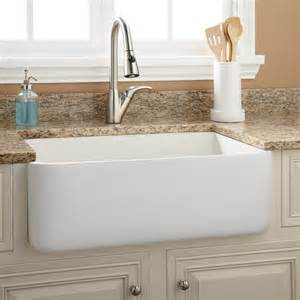 farm sinks kitchen 30 quot durant reversible fireclay farmhouse sink smooth