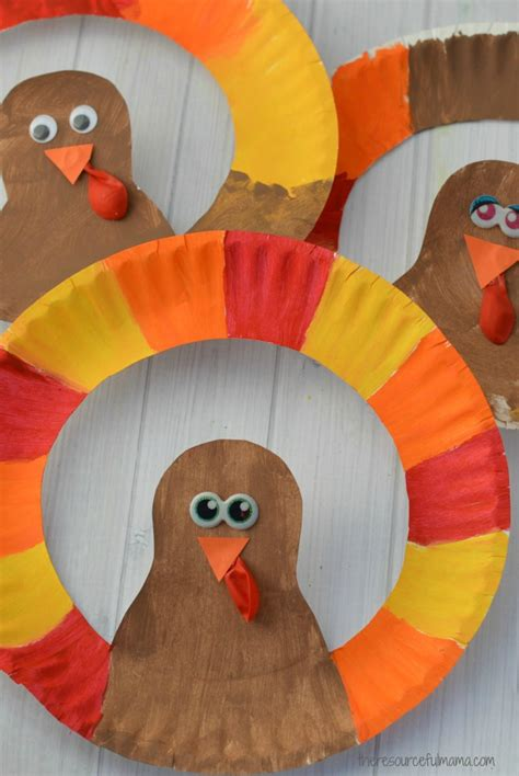 thanksgiving crafts to do with paper plate turkey craft the resourceful