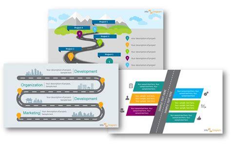 three creative ways to do a roadmap slide infodiagram