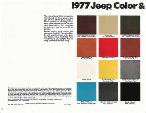 paint colors for jeeps 1977 jeep paint color selections a photo on flickriver