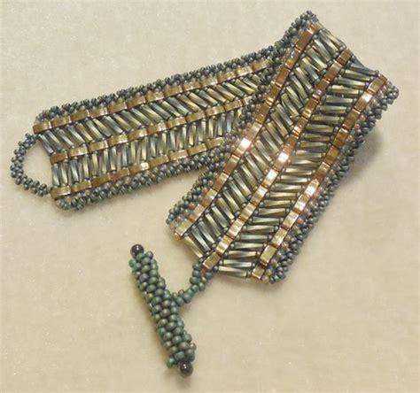 bugle bead patterns pattern tila half with bugle cuff style 3 patterns