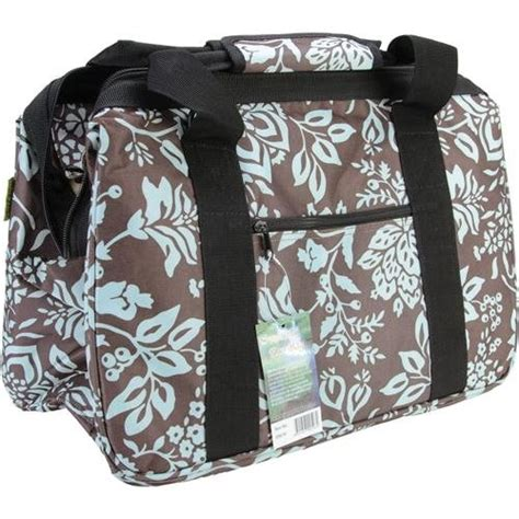 New Blue Floral Eco Bag Knitting Bag Tote Sewing Fabric