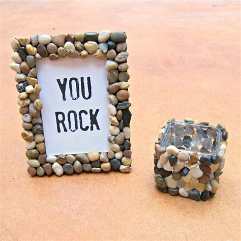 rock home decor tutorial rock accented home decor dollar store crafts