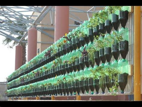 how to make a vertical wall garden the green wall educational vertical garden bottle system