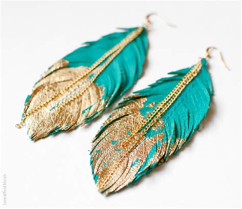 feathers for jewelry feather earrings leather feather jewelry by loveatfirstblush