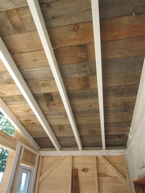 wood ceiling planks relaxshacks a recycled barn wood fence plank ceiling