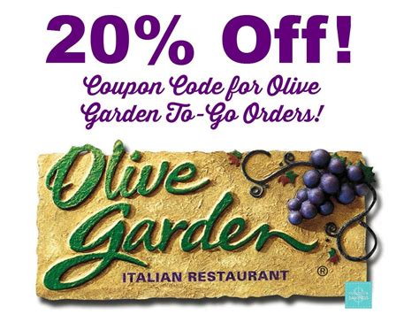 olive garden to go olive garden coupon code 20 to go orders