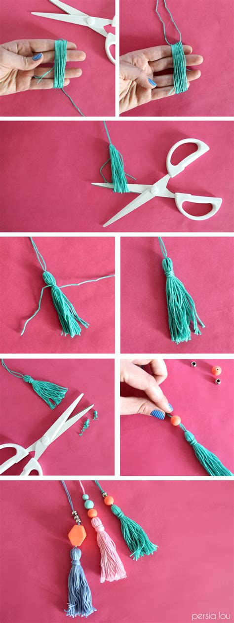 beaded tassels how to make can t find a thing bag simple tote with tassels lou