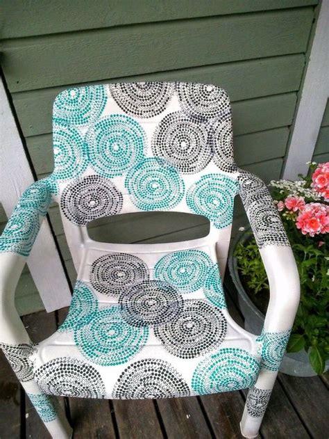 decoupage outdoor furniture transformed garden chair hometalk