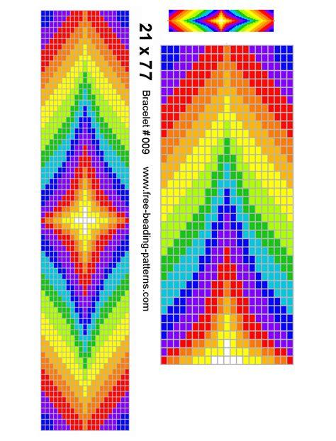 American Beading Pattern Loom Rainbow Colors