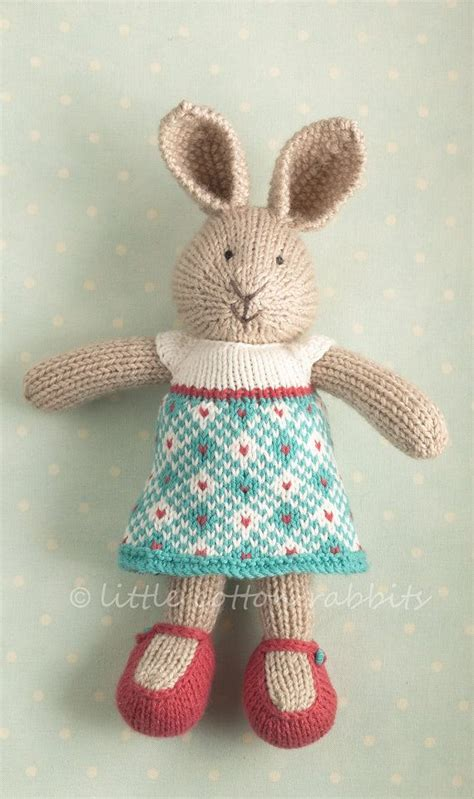 how to knit a bunny pin by susan davis on knitting toys