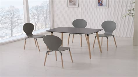 black dining tables and chairs black dining table and 4 grey chairs homegenies