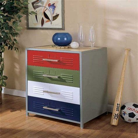boys locker bedroom furniture powell locker room style 4 drawer dresser