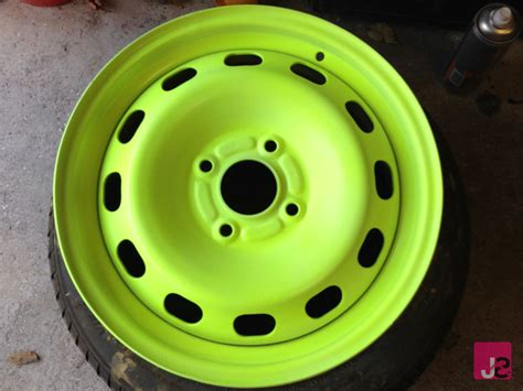 glow in the painted rims how to refurbish paint steel wheels