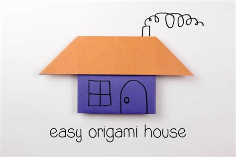 how to make an origami house step by step easy origami house tutorial
