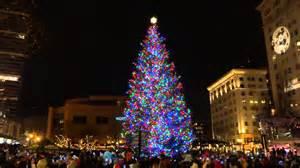pioneer square tree portland oregon tree lighting pioneer