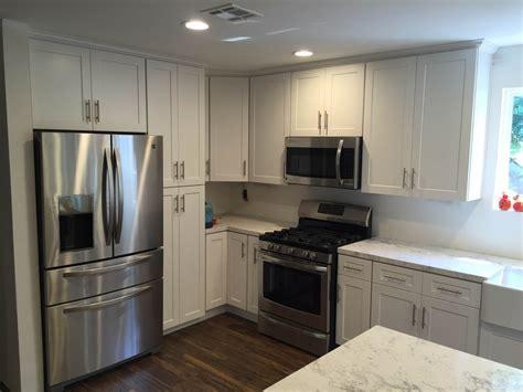 overlay kitchen cabinets white shaker overlay kitchen cabinets with quartz