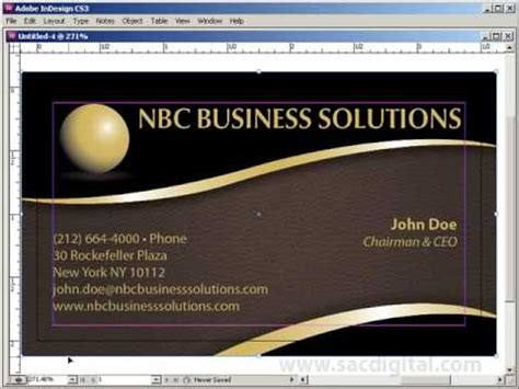 how to make business cards in indesign indesign business card template with bleeds