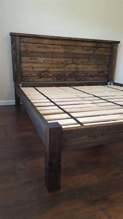 diy wood bed frame best 10 king bed frame ideas on diy king bed
