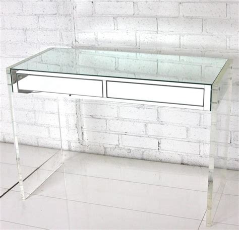 lucite office desk mirror lucite desk vanity modern desks and hutches