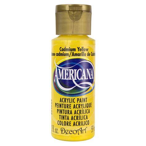 home depot yellow paint suit decoart americana 2 oz cadmium yellow acrylic paint dao10