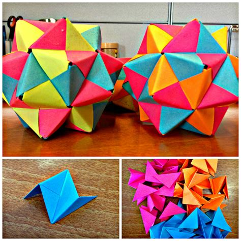 Post It Origami Icosahedron Origami Desks And Oragami
