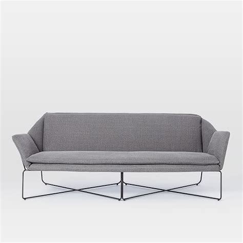 origami sofa origami upholstered sofa west elm