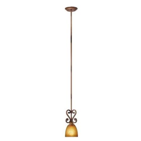 pendant lights home depot hton bay chateau 1 light walnut mini pendant