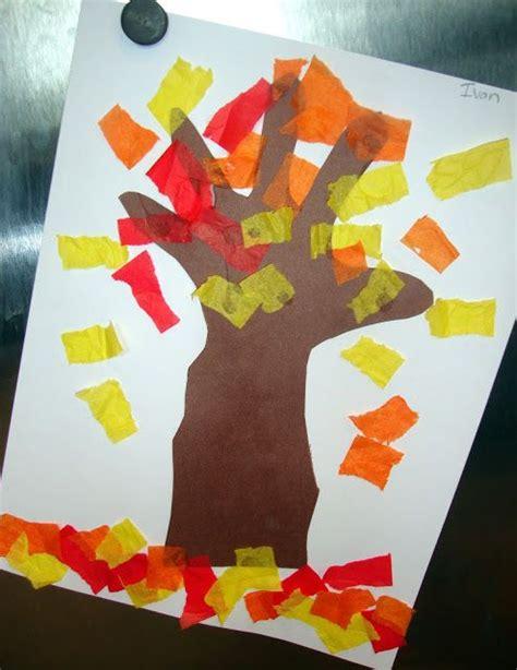 tissue paper leaf craft tissue paper leaf craft autumn preschool