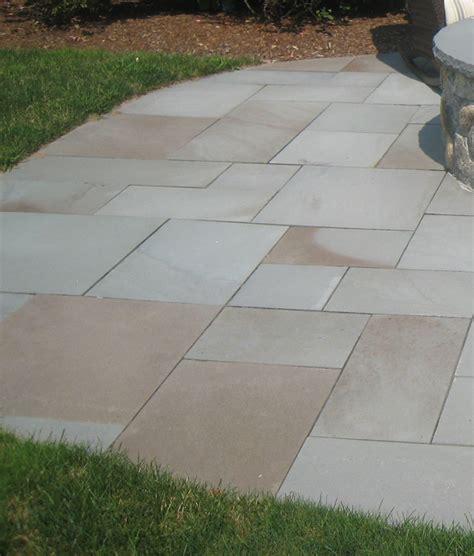 bluestone patio pavers thermal variegated blue pavers neck