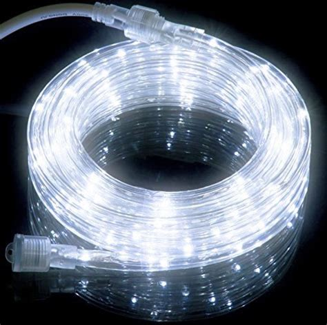 cool white rope lights 18ft cool white led rope light kit for indoor
