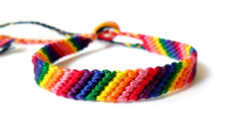 easy friendship bracelets with simple rainbow friendship bracelet by themathlady on