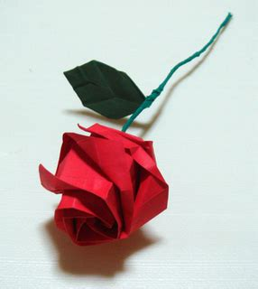 rosa de origami como hacer una rosa de papel origami imagui